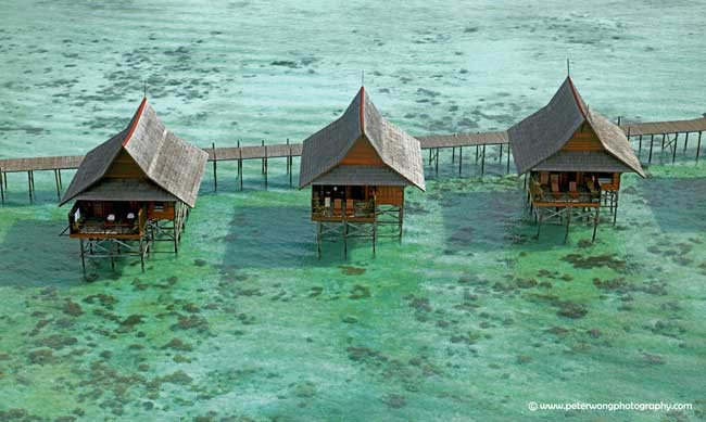 best luxury beach resorts in Malaysia sipadan over water chalets