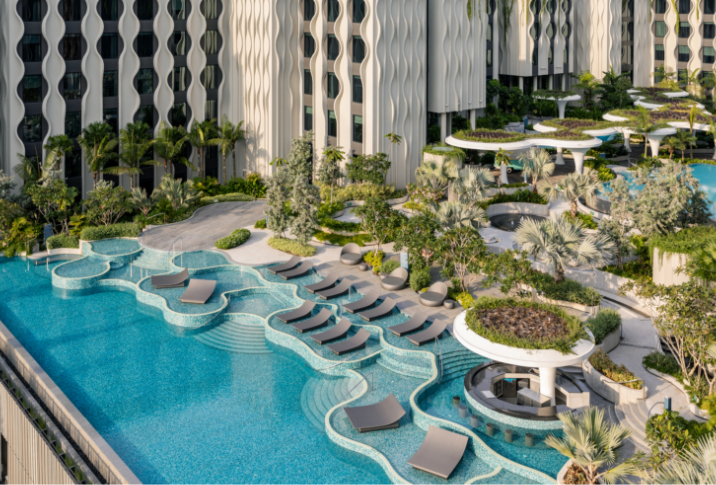 best luxury resorts and hotels in singapore the barracks pool deck pool ariel view