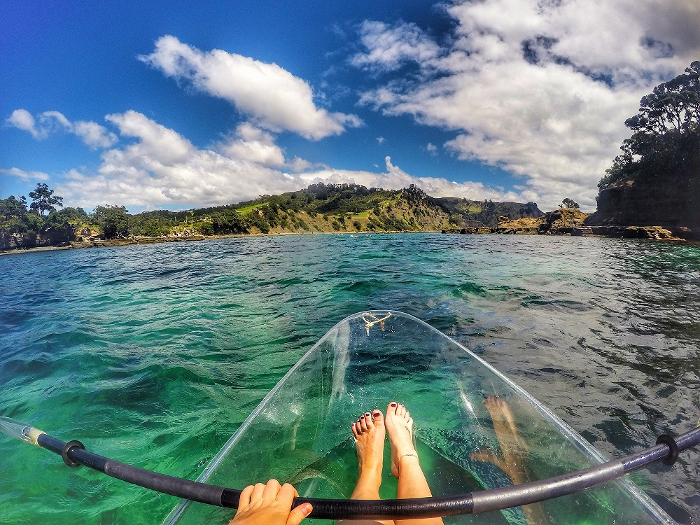 goat island new zealand clear bottom kayak-monthly guide to summer getaways around the world