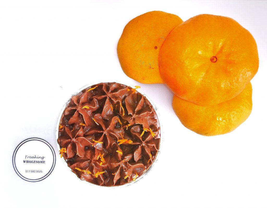 dairy-free mandarin chocolate mousse