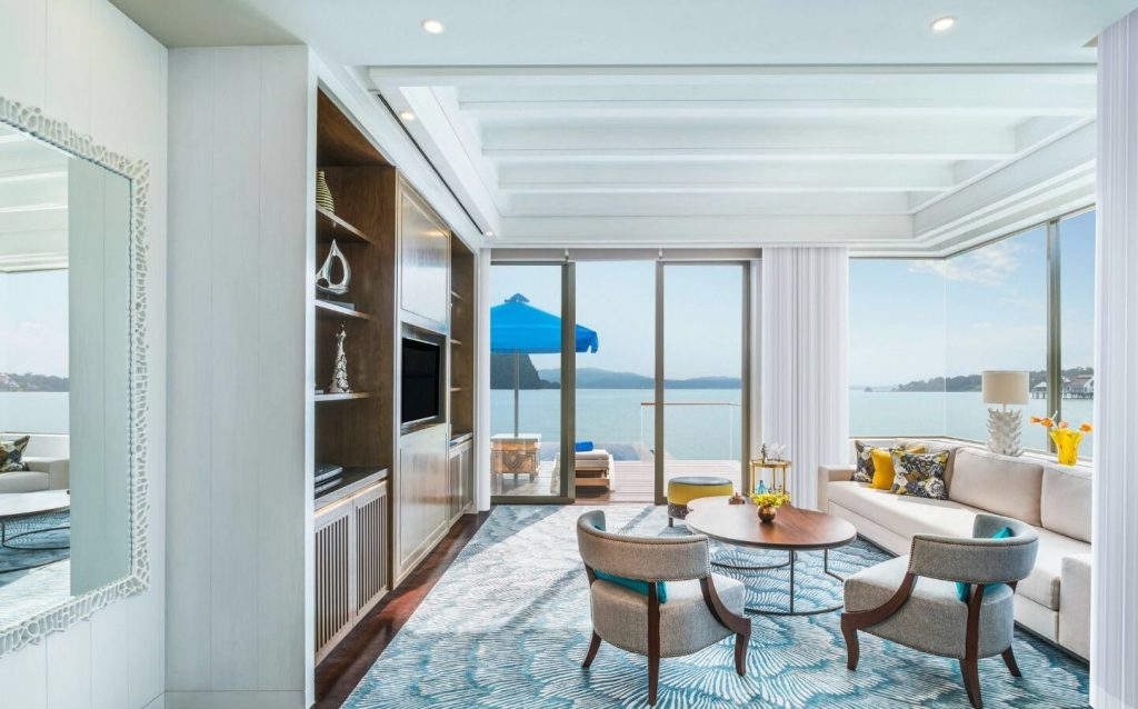best luxury beach resorts in malaysia - st regis langkawi water villa