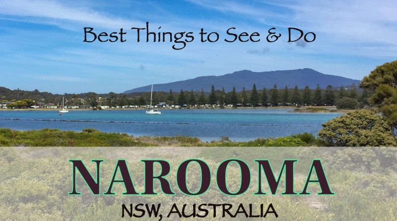 what to do in Narooma, NSW Australia, boats sailing on blue waters with Mt Gulaga in the background