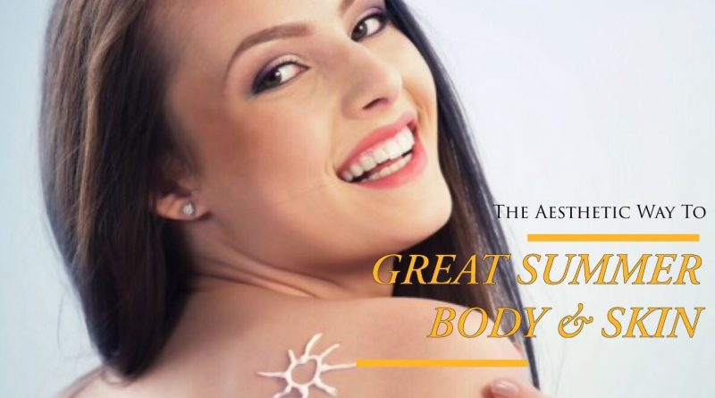 malaysia's top aesthetic clinic for great summer skin with woman and sunscreen on back
